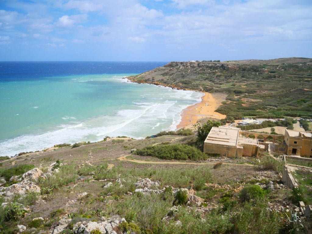Malta and Gozo Island - View of the shore and waters from Calypso Bay