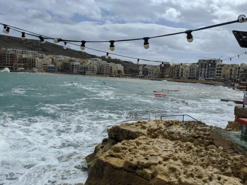 Malta and Gozo Island -view of fair lights and the ocean bay in the heart of Malta