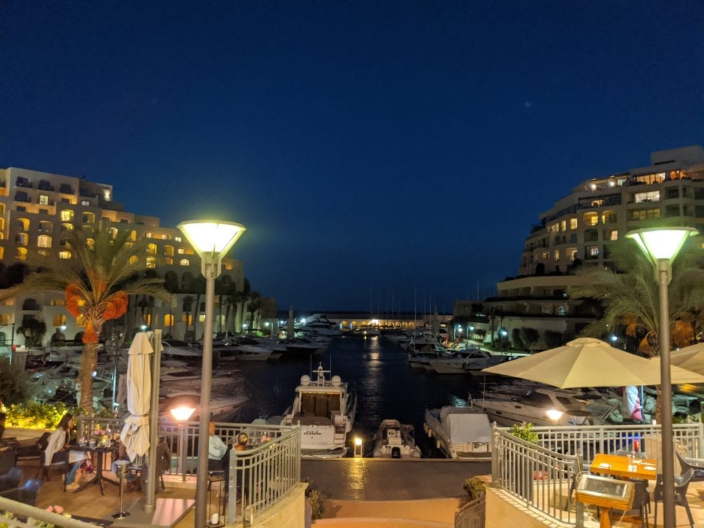 Malta travel guide - View from the Marina in St Julians