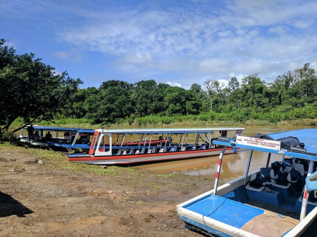 Costa Rica Itinerary - water taxis on the river in tortuguero