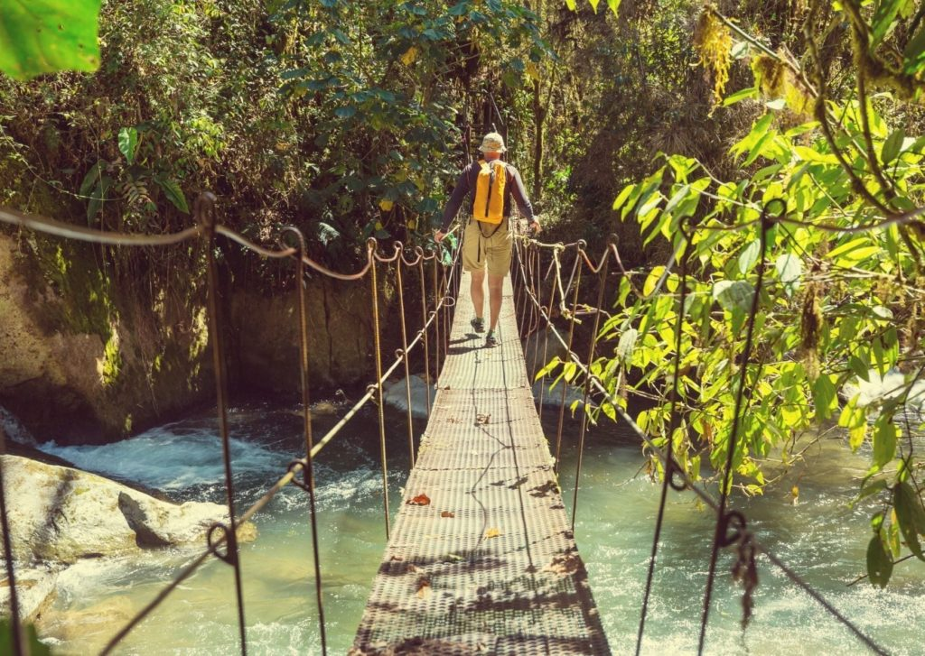 Things to do in Arenal Costa Rica - hanging bridges in La Fortuna