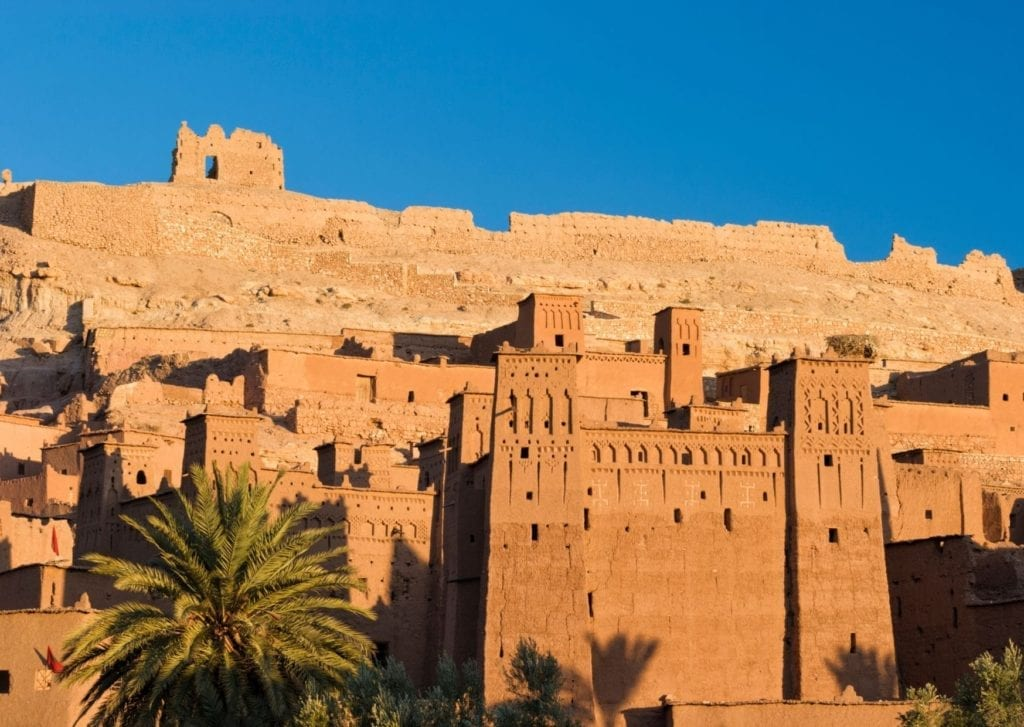 Epic things to do in Marrakech - the large yellow clay structures of the Moroccan Kasbahs