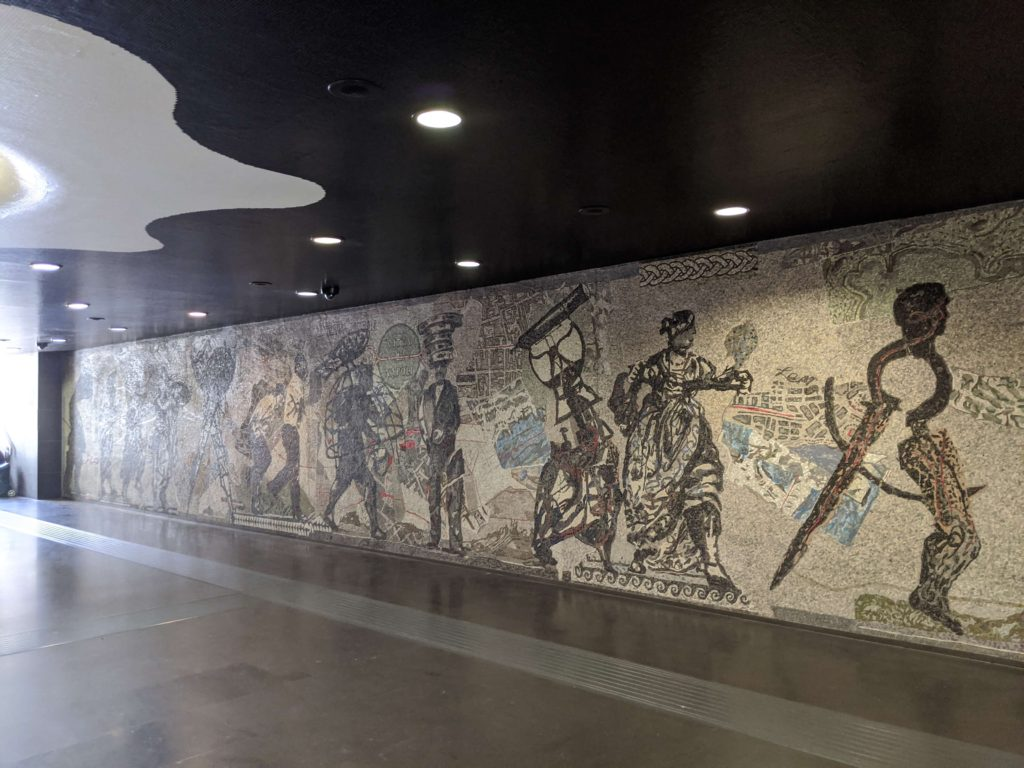 Things to do in Naples Italy - see the artwork in Linea 1 metro station