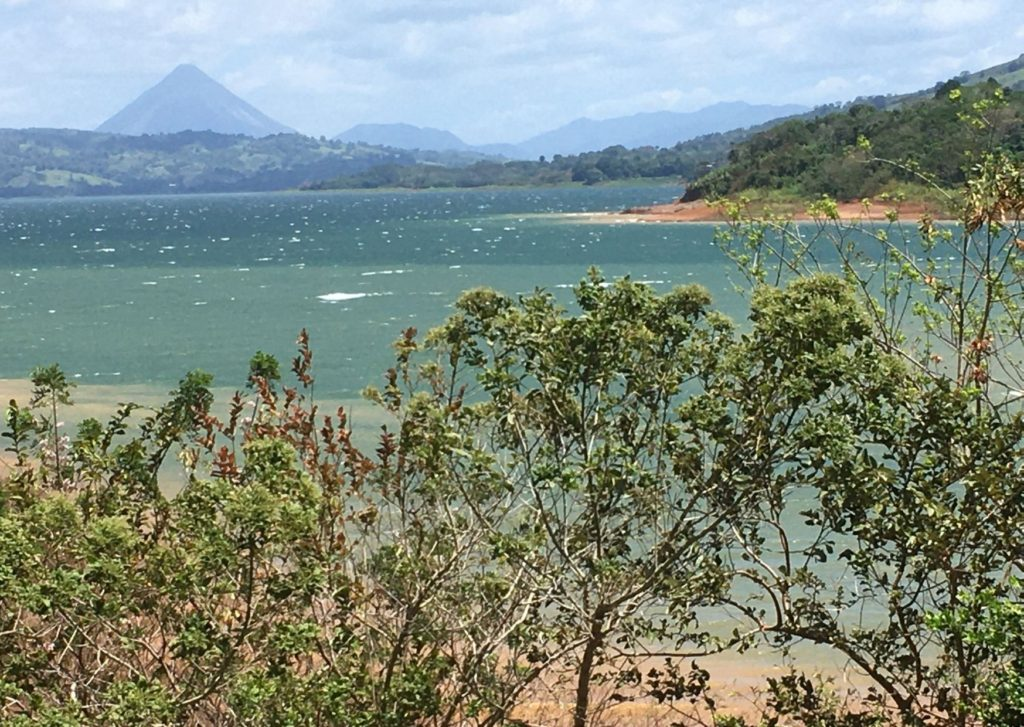 Things to do in Arenal Cota Rica - view of arenal volcano from across arenal lake