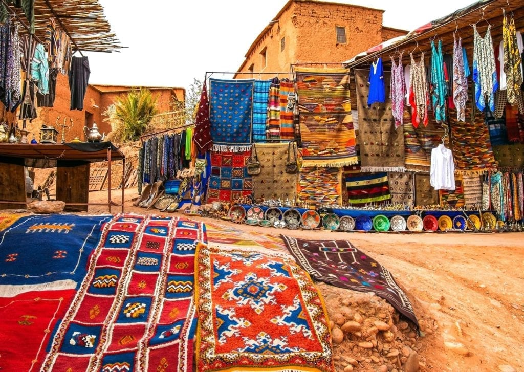 Epic things to do in Marrakech - the colourful market stalls of the Moroccan Medina