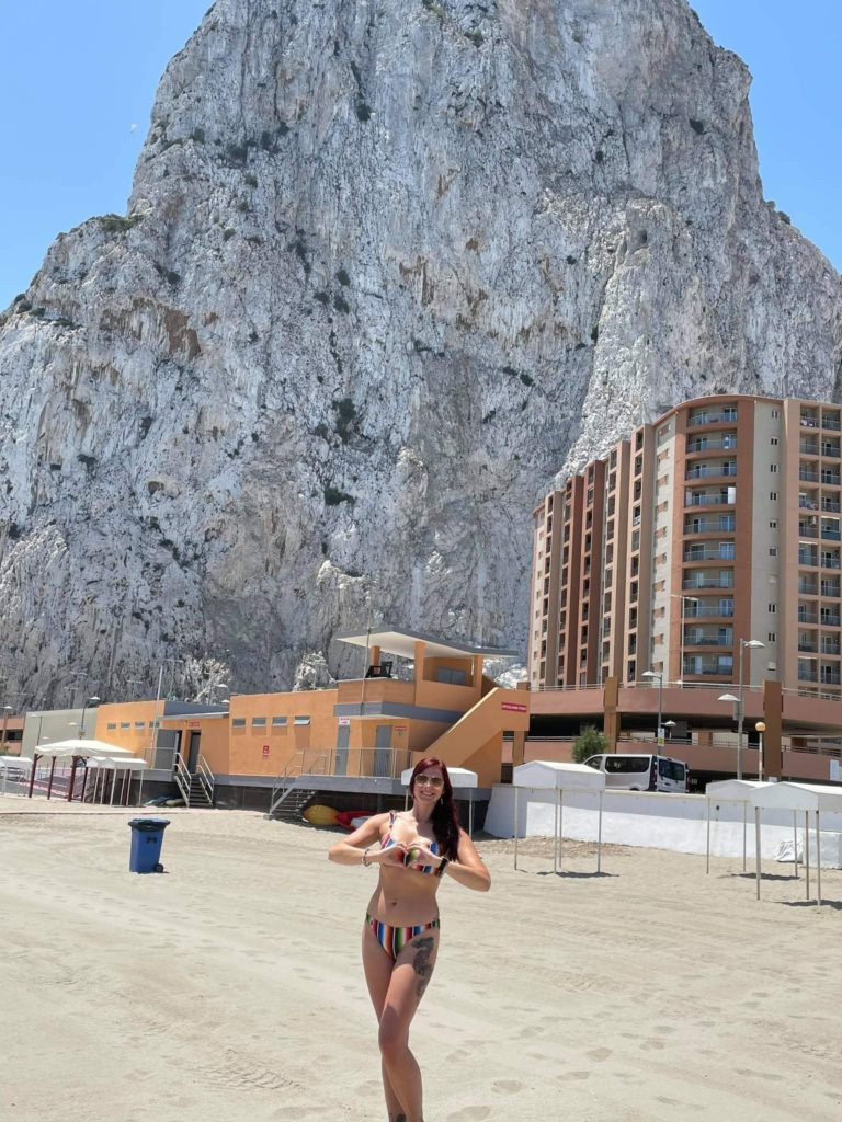 Things to do in Gibraltar - Eastern Beach in front of the rock