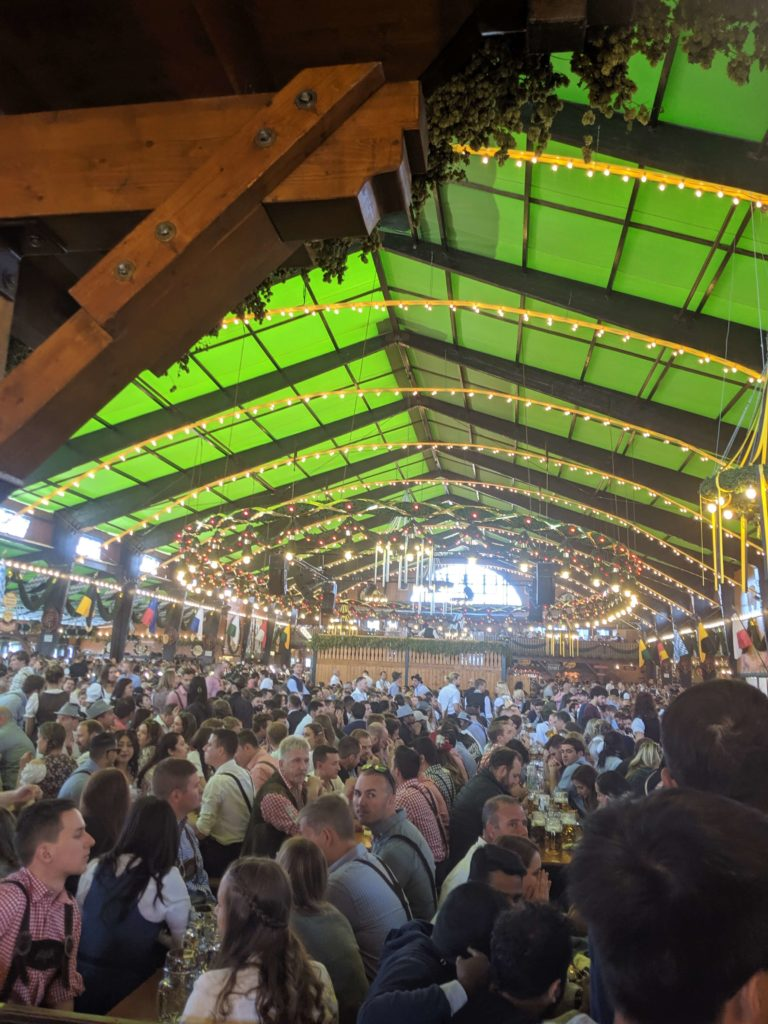 Munich beer festival - inside one of the beer tents